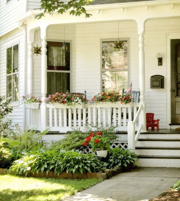 Small Front Porches On Houses: Little Town Filled With Older Homes With