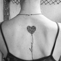 Coração Balão Love Tatuagem De Coração Tatuagem De