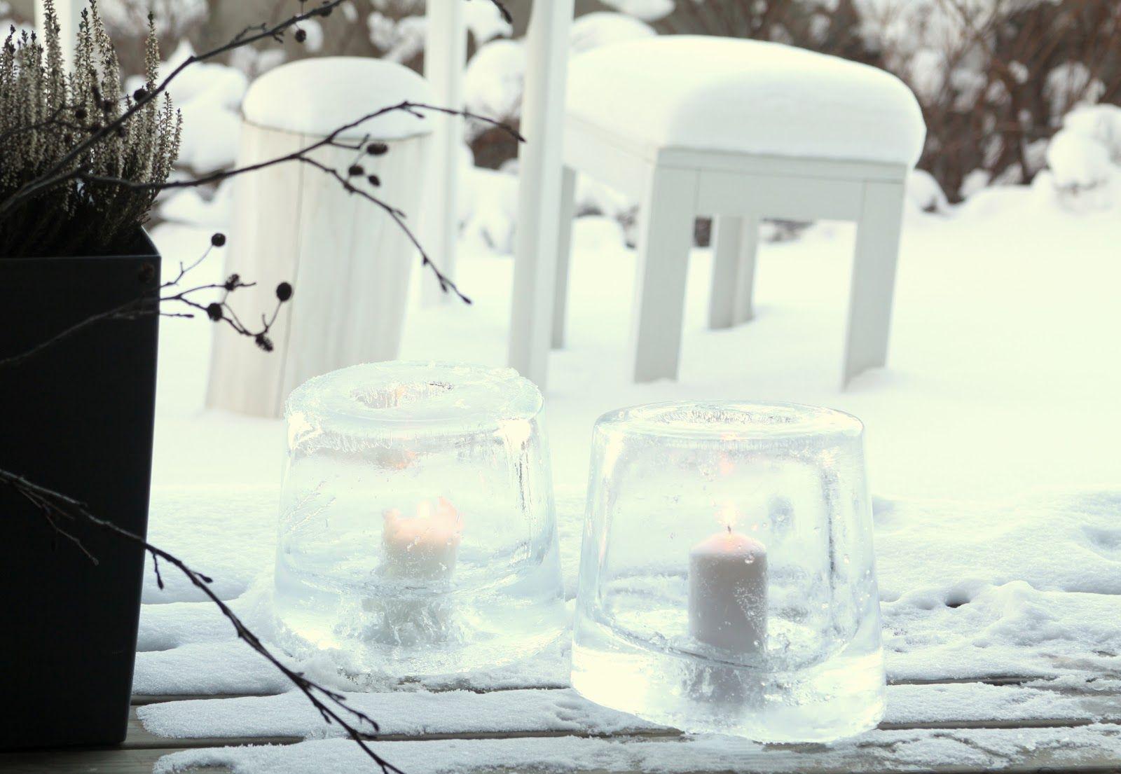 muotoseikka\ Jäälyhdyt ja huurteinen piha / Frosty beauty