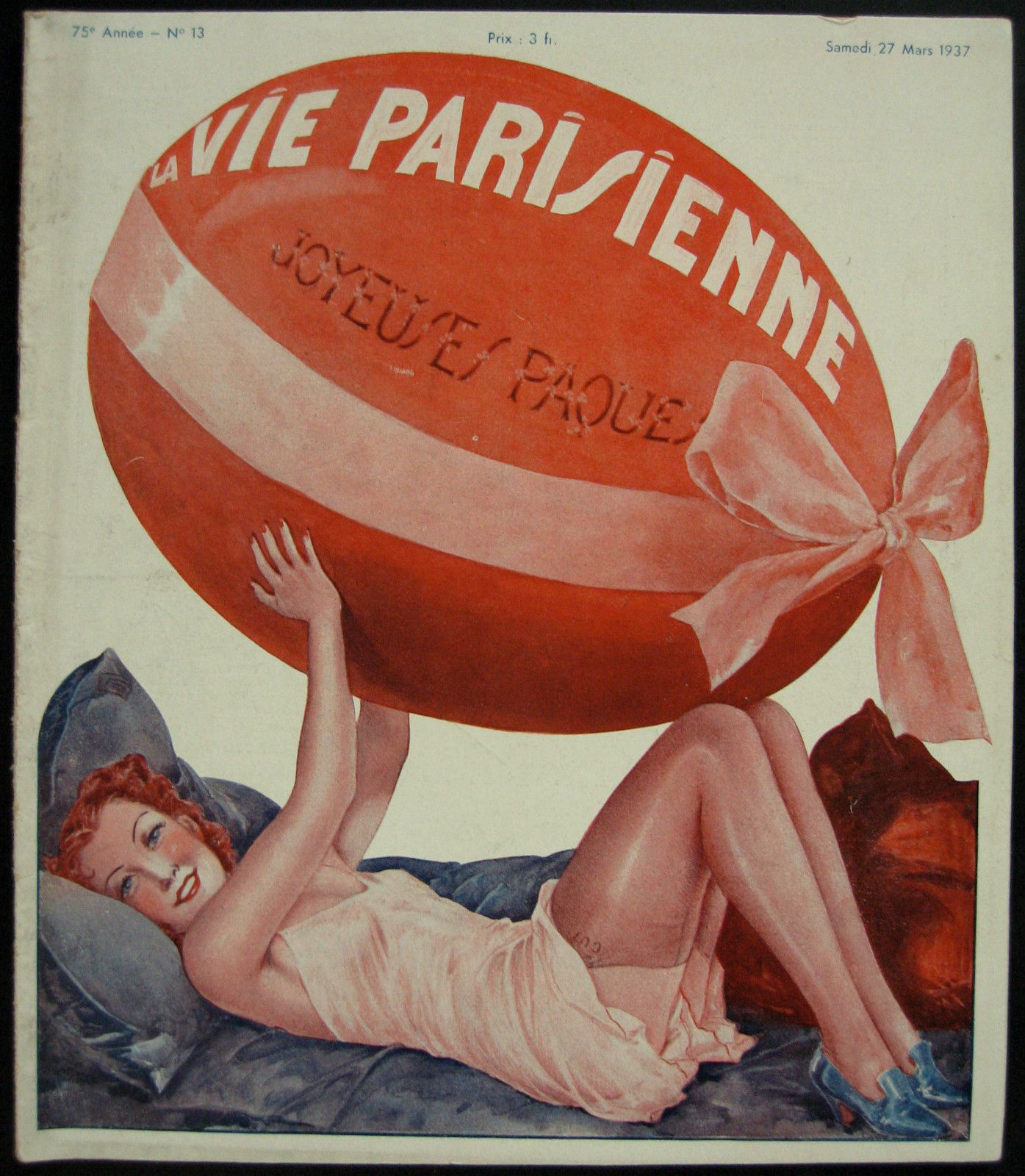Georges Léonnec (1881 – 1940). La Vie Parisienne, 27 Mars 1937. [Pinned 23-vii-2015]