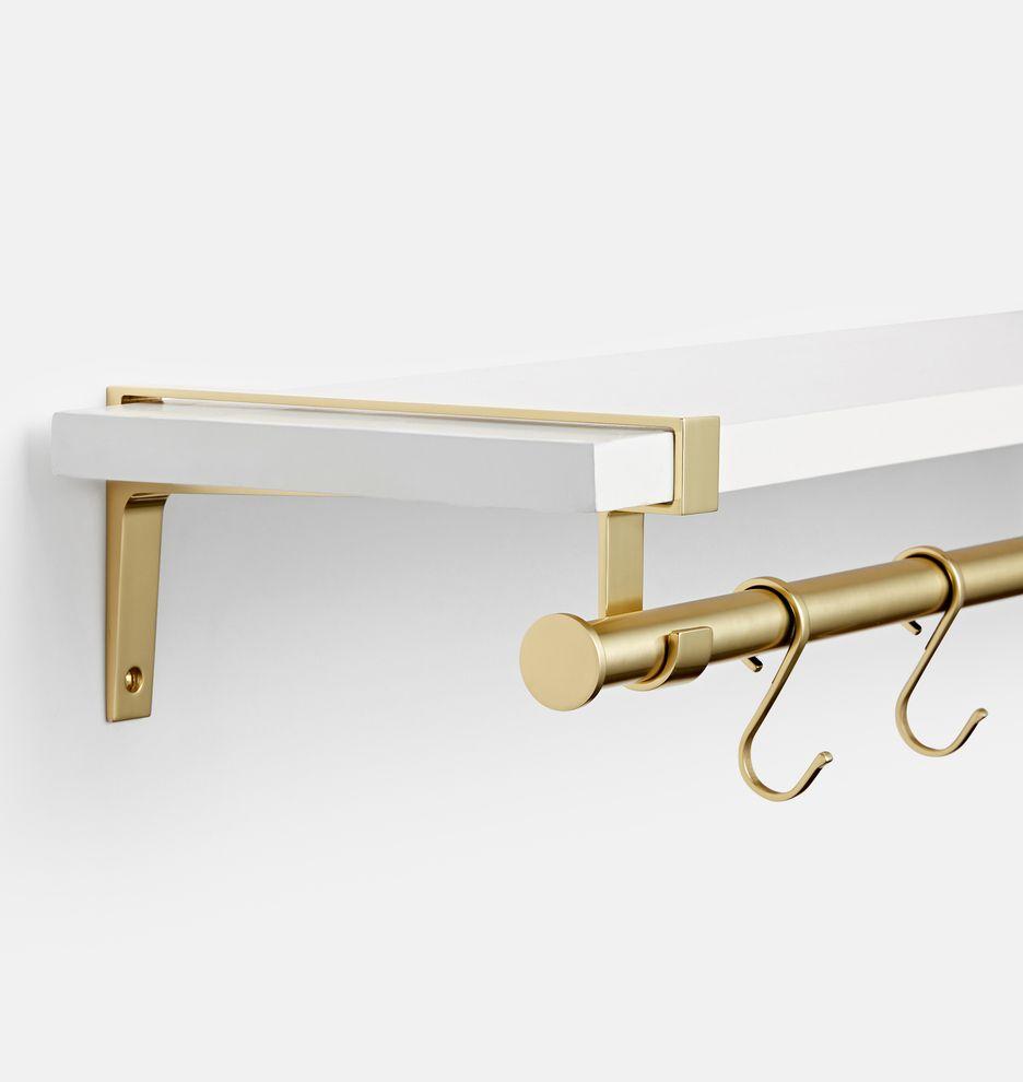Strap And 24 Rod Brackets Shelf Set Rejuvenation Shelves Modern Shelving Medicine Cabinet Mirror