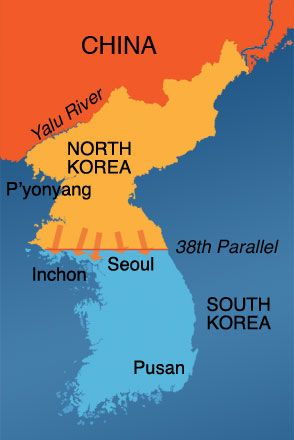 The korean war begins with an invasion from the north across the the korean war begins with an invasion from the north across the 38th parallel gumiabroncs Images