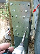 Extending A Fence Post With Metal Tie Plates And Short