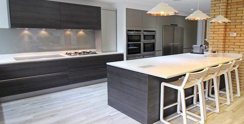 Cuisine gris et bois en 50 modèles variés pour tous les ...