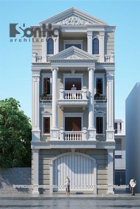 Thiết Kế Nha ống Kiến Truc Phap Thiet Ke Nha Ong Kien Truc Phap Trang 4 1 Facade House House Styles House Design