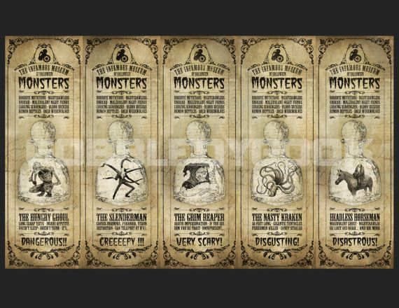 Steampunk Halloween Bookmarks 5 Printable by GobbledyGookCrafts ...