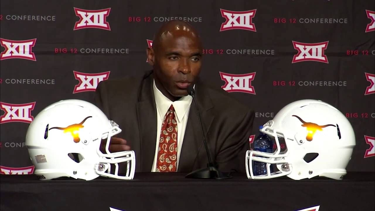 Big 12 media day charlie strong press conference july 21