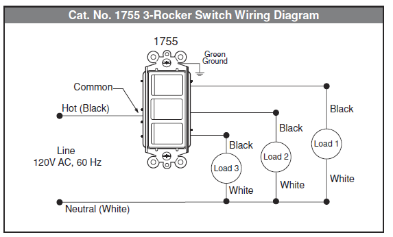 How To Wire Multi Control Rocker Switch Home Improvement Stack Exchange Light Switch Wiring Light Switch Bathroom Fan Light