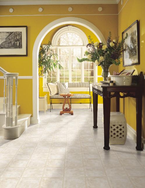 Bright Yellow Entry Way Yellow Home Decor Vinyl Flooring Armstrong Vinyl Flooring