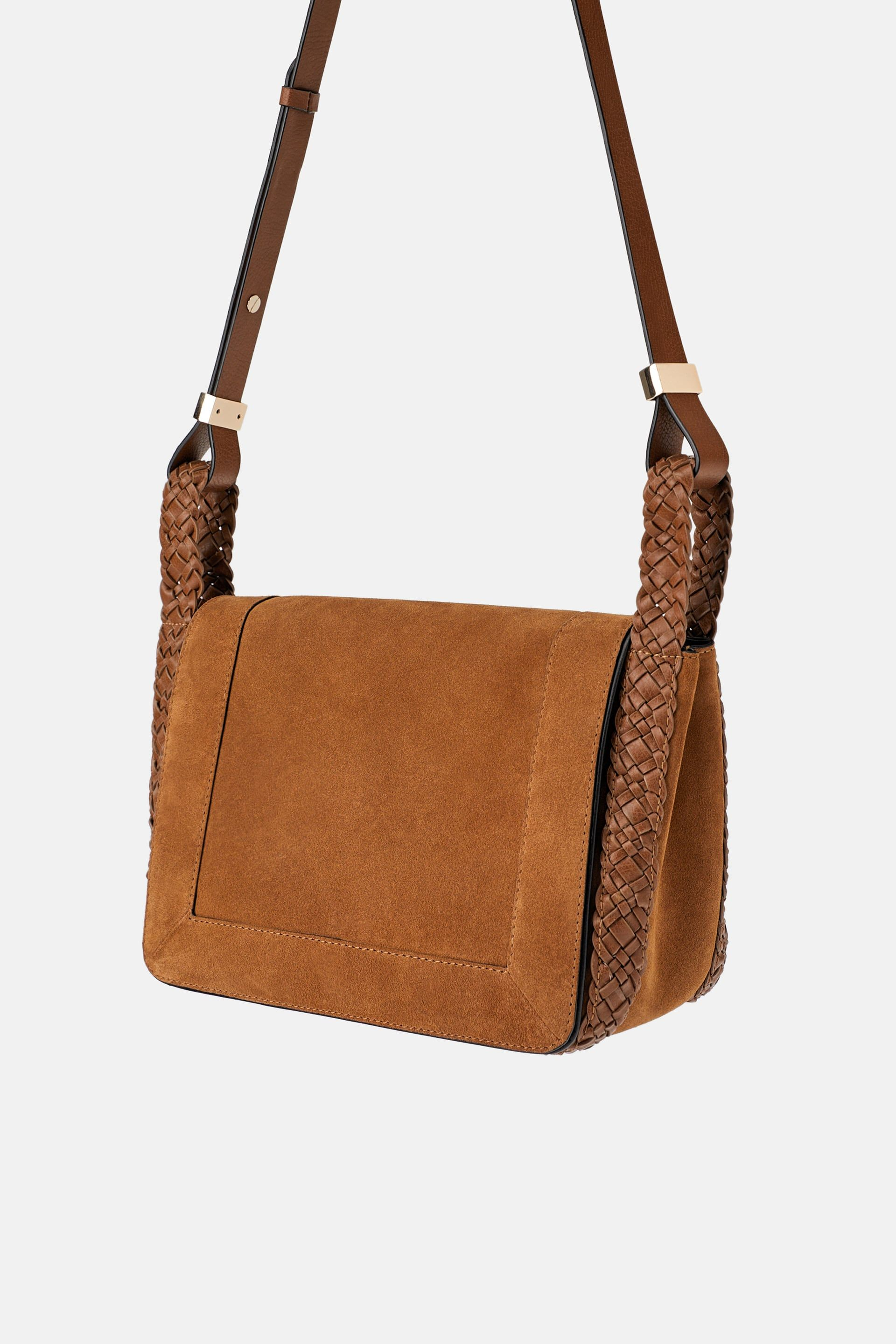 c377eaa5bee SPLIT LEATHER CROSSBODY BAG - View all-BAGS-WOMAN