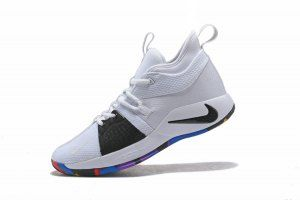 c7bc1b3516c4 Men s Nike PG 2 NCAA White Black Multi-Color AJ5164 100 Basketball Shoes