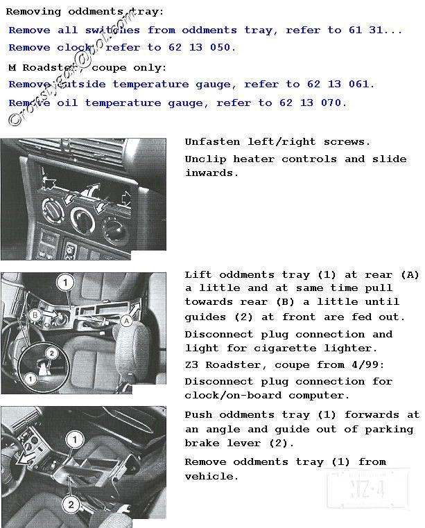 Z3 Removing Center Console Pt1 Center Console Console Bimmerfest