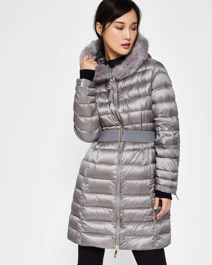 e1aa857917a42 Ted Baker AMANDEA Long hooded puffer coat