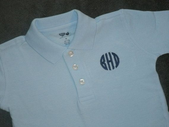 Toddler Youth Polo Short Sleeve Monogrammed Polo Shirt