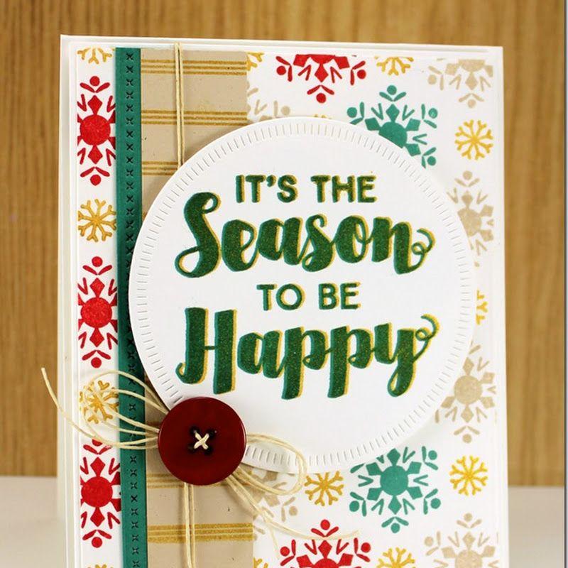 Joyous christmas greetings snowflake flurry candy stripes joyous christmas greetings snowflake flurry candy stripes background builder basic stitch lines die namics radial stitched circle die namics jodi m4hsunfo