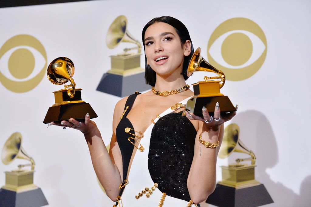 Los Angeles California February 10 Dua Lipa Attends The 61st Annual Grammy Awards Press Room At Staples Center On Grammy Red Carpet Grammy Awards Grammy