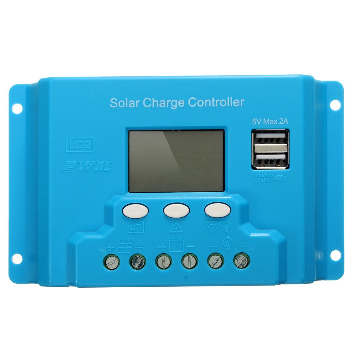 10a 20a 30a Lcd Pwm Solar Panel Charge Controller Battery