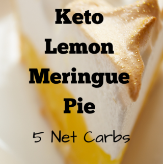 Keto Lemon Merigue Pie #lemonmeringuepie