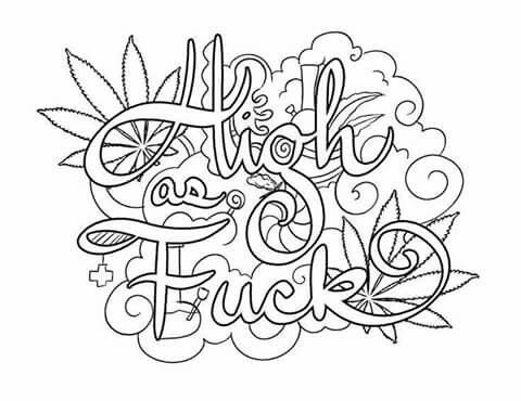 420 Coloring Free Adult Coloring Printables Words Coloring Book
