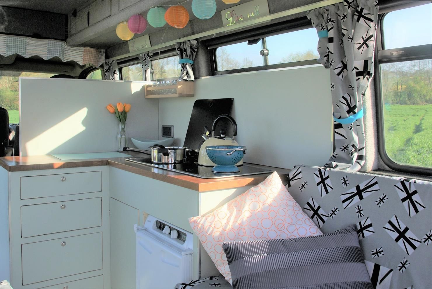 Campervan Sally From Gloucestershire UKs Cool Colours Are So Spring Like And Welcoming