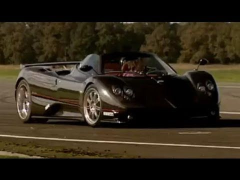 pagani zonda f vs bugatti veyron drag race - top gear - bbc