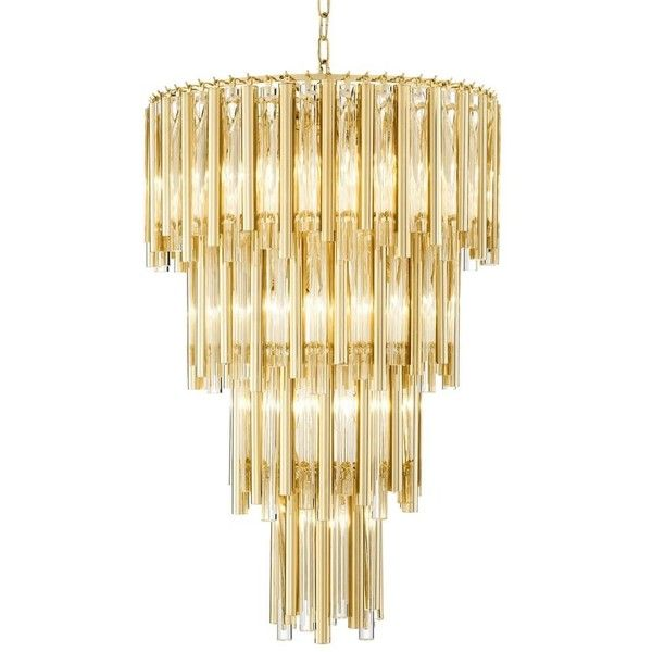 Eichholtz gigi gold chandelier large 3830 ❤ liked on polyvore featuring home lighting ceiling lights gold ceiling lights eichholtz lighti