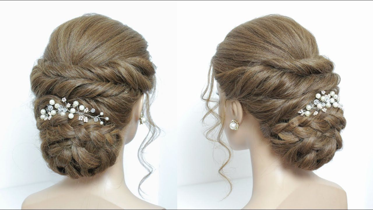 New Juda Hairstyle Tutorial For Long Hair. Braided Bun - YouTube