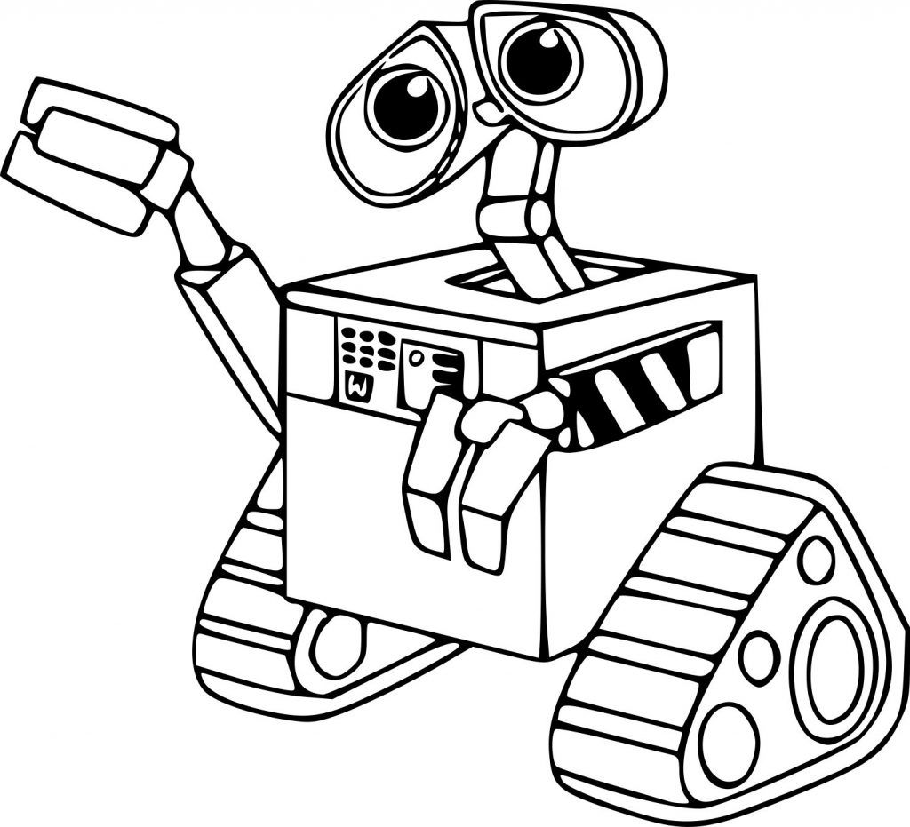 WALLE Coloring Pages Coloring pages for kids, Coloring