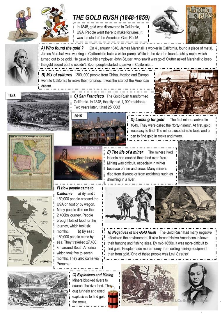 The Gold Rush English Esl Worksheets For Distance Learning And Physical Classrooms In 2020 Gold Rush Projects California Gold Rush Activities Gold Rush Worksheets