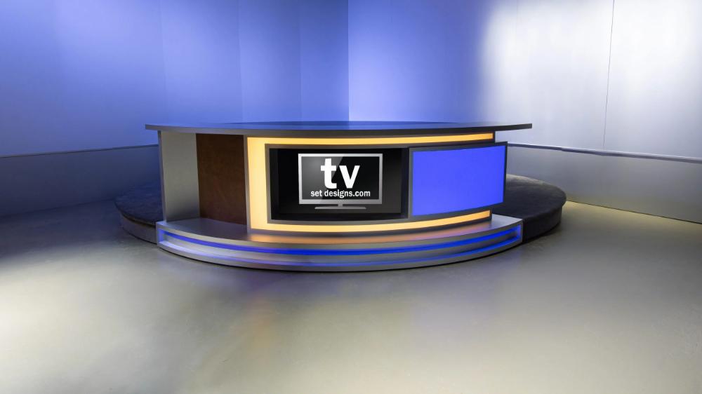 Anchor News Desk Tv Set Design Broadcast Furniture Tv Set Design Tv Sets Sales Desk