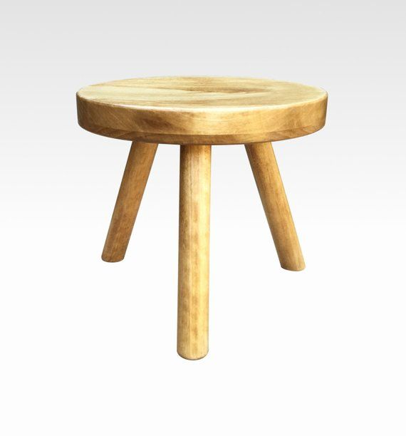 Remarkable Small Wood Three Legged Stool Modern Plant Stand In Honey Forskolin Free Trial Chair Design Images Forskolin Free Trialorg
