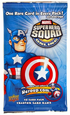 super hero squad trading card game pack