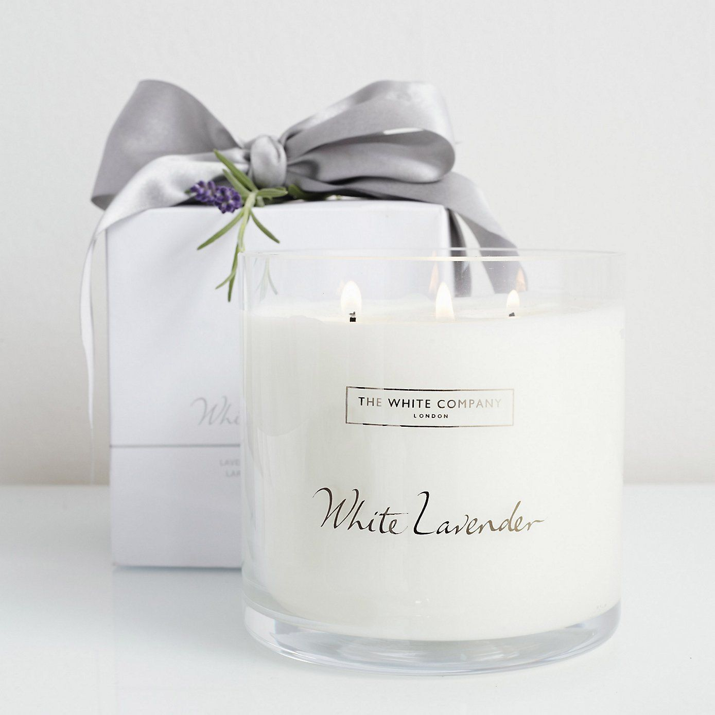 White Lavender Large 3-Wick Candle - Candles | The White Company ...