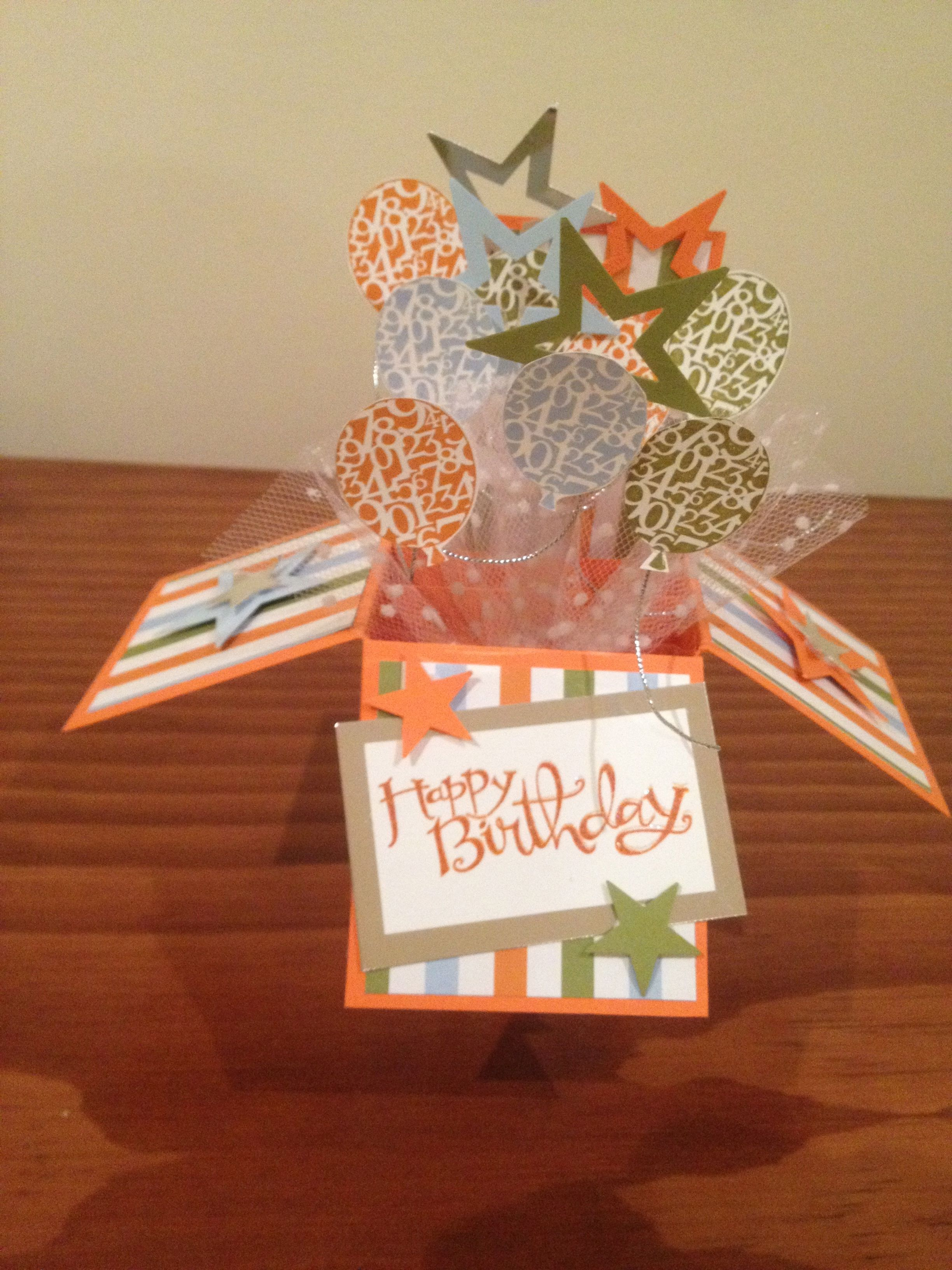Balloons galore cards card in a box pinterest cards and box
