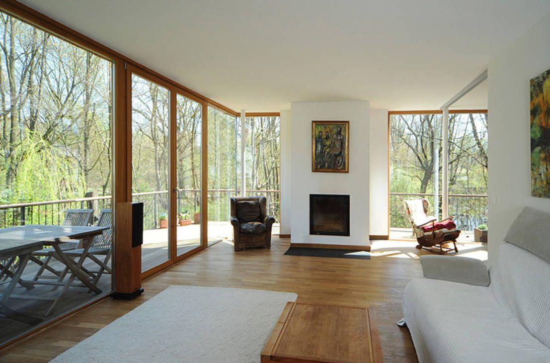Wohnzimmer Design Modern ~ Marvelous Tapeten Wohnzimmer Modern ... Wohnzimmer Grose Fensterfront