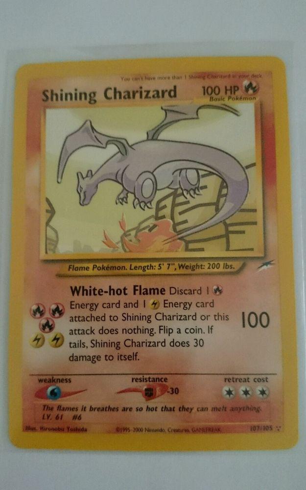 Rare Holo Shining Charizard Card 107105 Etsyebaytreasuretrove