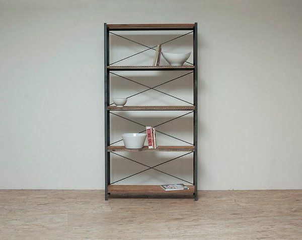love the x back design of these shelves Bookcase