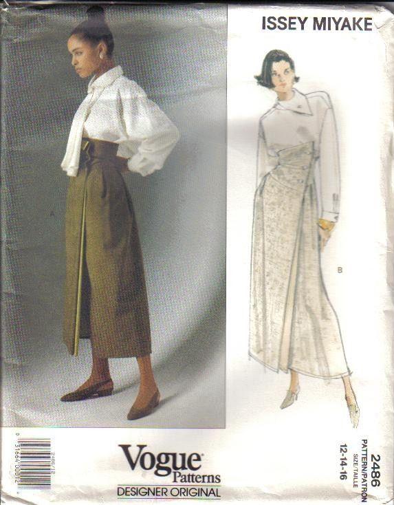 OOP Issey Miyake Vogue Sewing Pattern Designer Original Misses | My ...