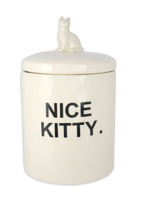Fred Cat Treat Jar Magenta Wholesale Home Decor Ceramics