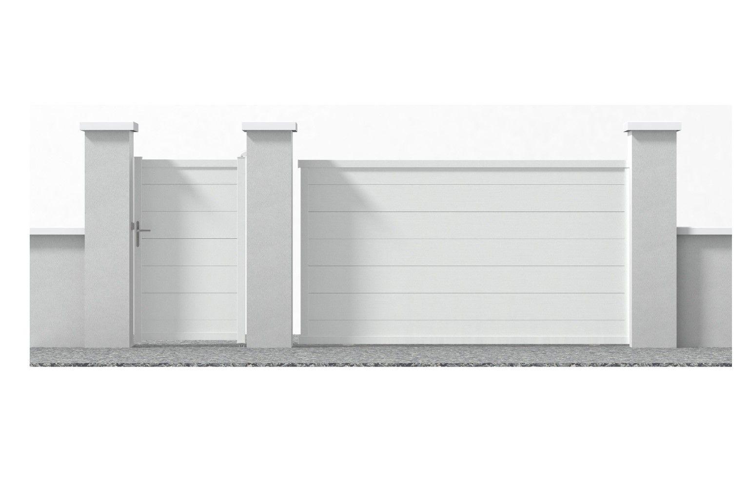 Portail Coulissant En Alu Lyon Blanc 350 Cm Soldes Portail Castorama Iziva Com En 2020 Portail Coulissant Castorama Portail
