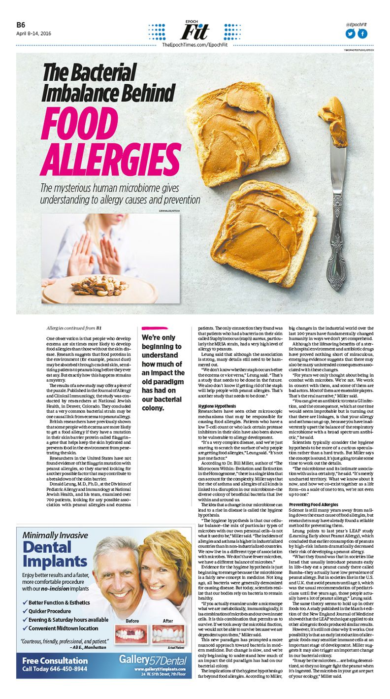 The Bacterial Imbalance Behind Food Allergies|Epoch Times #Health #newspaper #editorialdesign