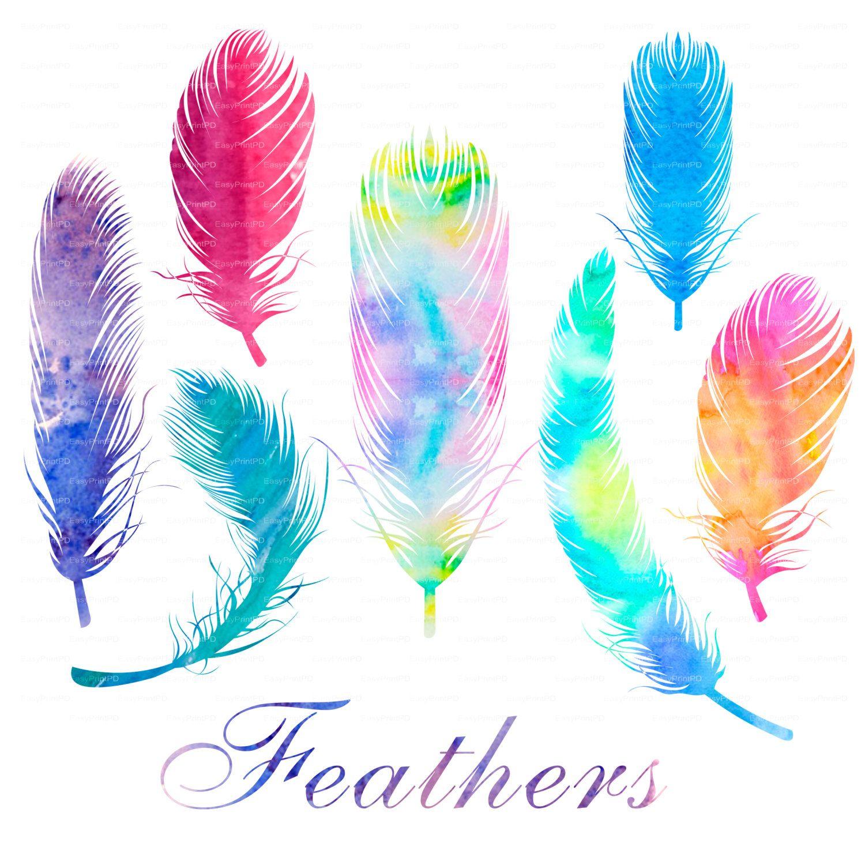 Four Elements Watercolour Artist Tuffytats: Aquarelle De Plumes Clipart, Fichier Numérique Clip Art