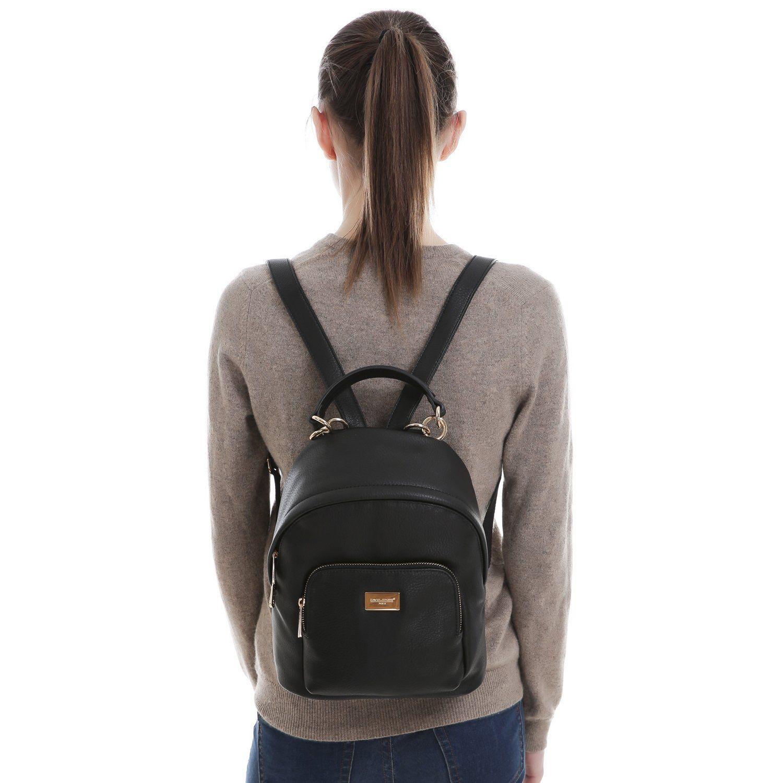 909c417e3826 DAVID JONES Women's Synthetic leather Mini Shoulder Bag   Backpack ...