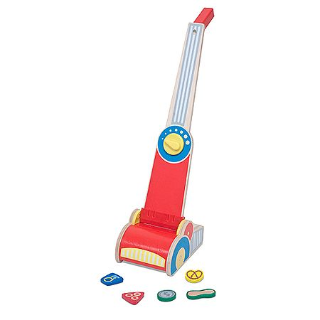 Let's Play House! Vacuum Cleaner.  It's made of wood so it will last and it actually picks up the little wooden pieces.  So cute!