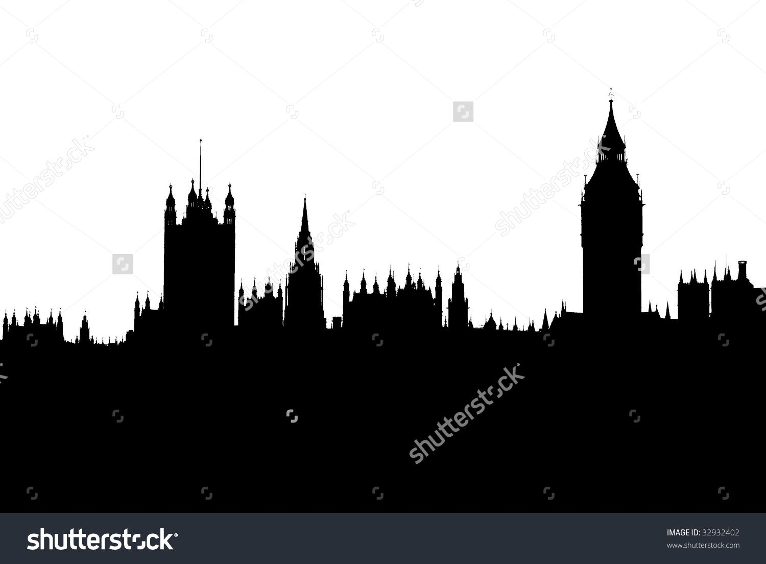 Peter Pans Victorian London Skyline Silhouette