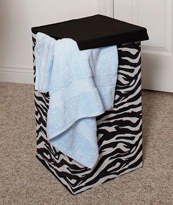 New Zebra Hamper Safari Home Bedroom Decor