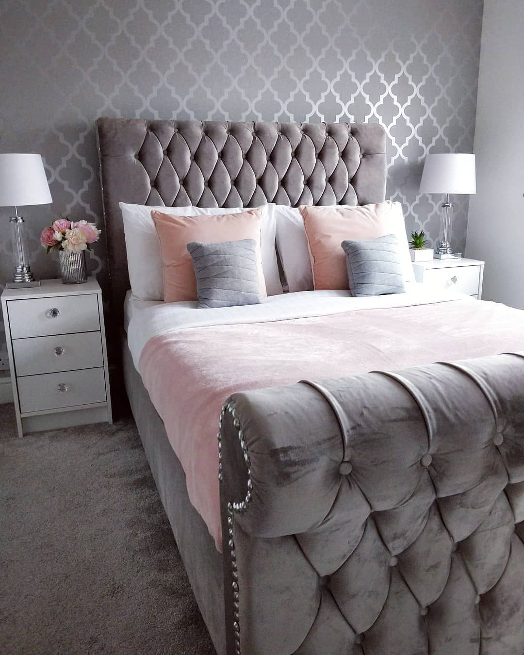 Cute Pink And Grey Bedroom Lo Aring Frac34 Nice In 2019 Pink Gray Bedroom Grey Bedroom Decor Bedroom Decor Grey Pink Pink Bedroom Decor