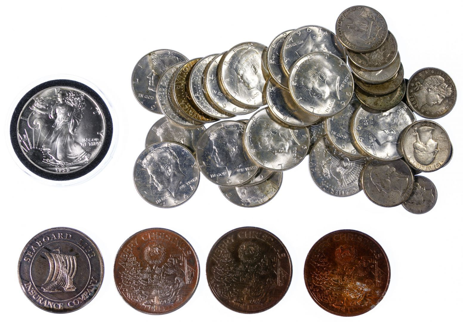Lot 104 us mixed silver coin assortment 1275 face