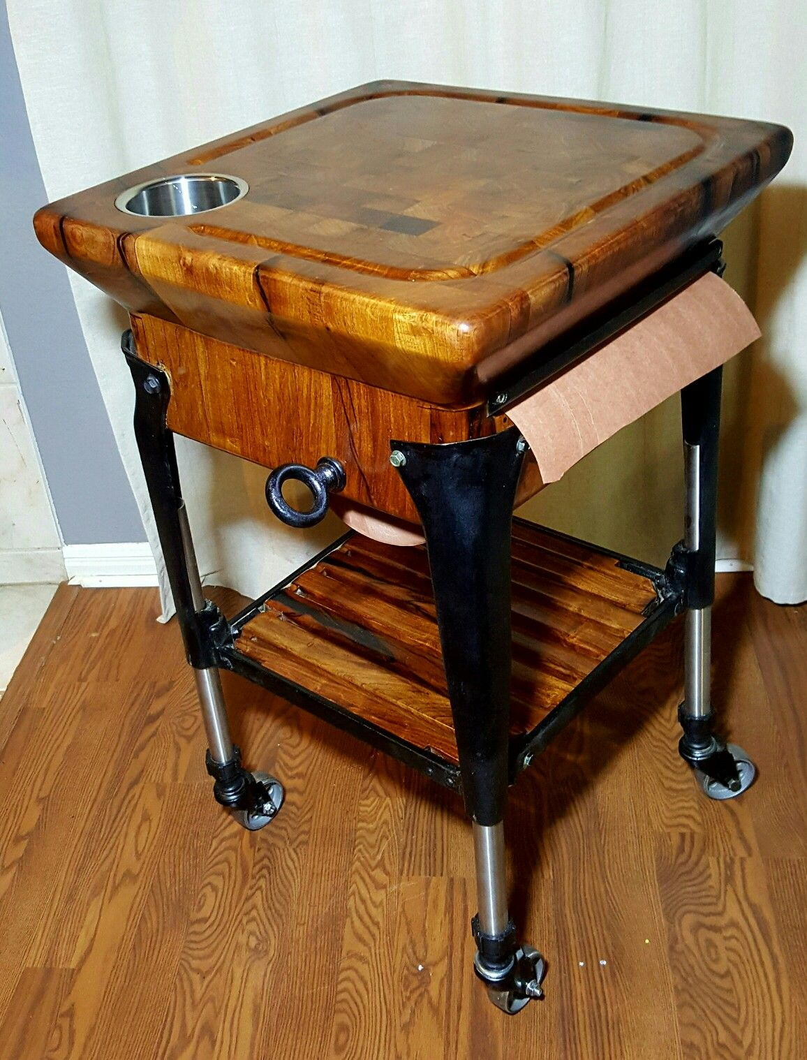 How About A Mesquite Butcher Block Cart To Prep And Serve Your Meals It Comes