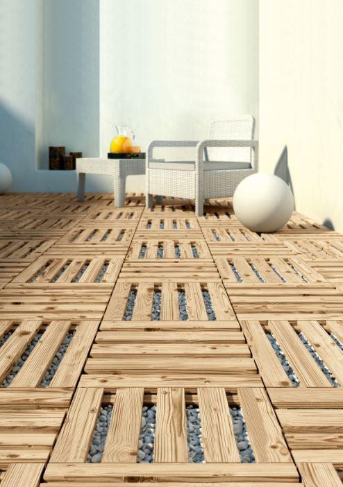 Baldosas Decorativas De Madera Para Jardin Outdoor Flooring Pallet Floors Pallet Patio Decks